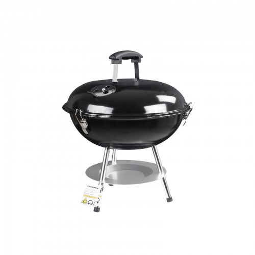 Enamelled Lid Charcoal Barbecue