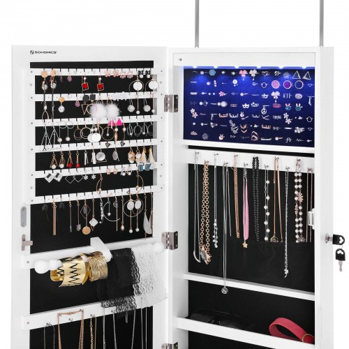 Hanging White Jewellery Cabinet