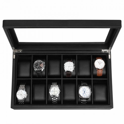 12 Compartment Watch Box