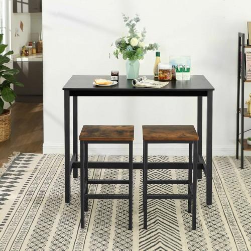 VASAGLE Bar Table, Dining Table with Sturdy Metal Frame ...
