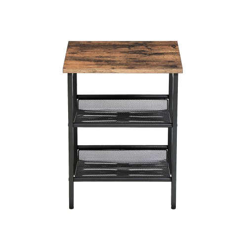 Mesh Shelves Side Table
