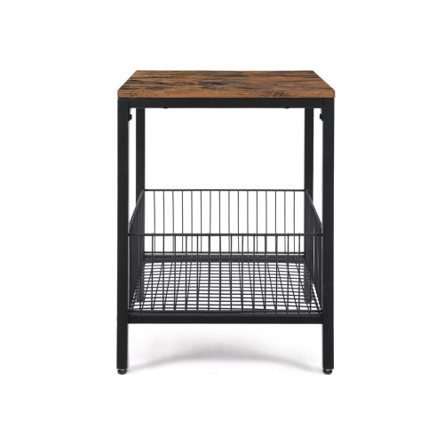 Wire Basket Side Table