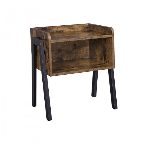 Open Drawer Side Table