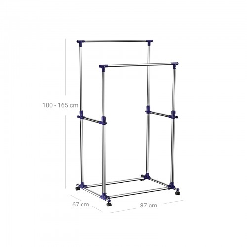 Adjustable Double Clothes Rack