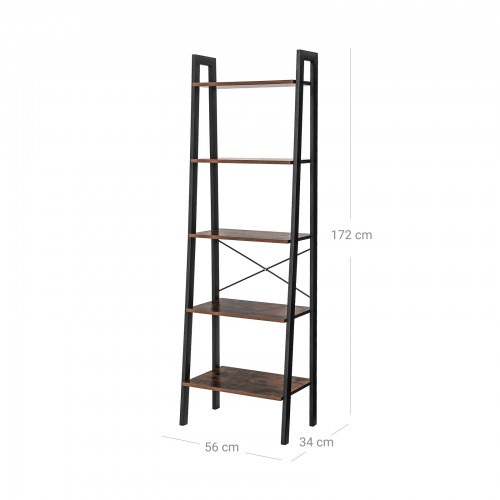 5 Tier Vintage Bookcase