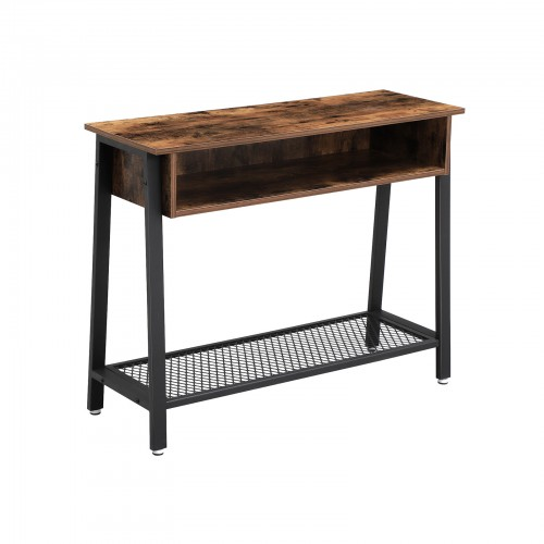 Mesh Shelf Console Table