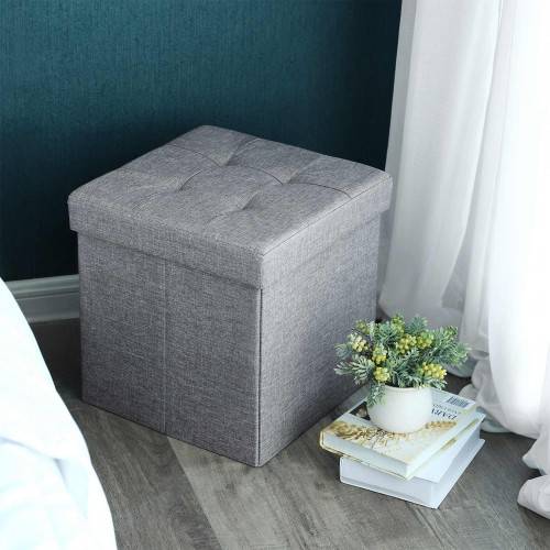 Light Grey Storage Ottoman