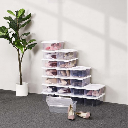 Stackable Clear Storage Boxes