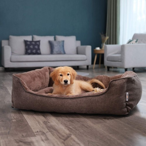 Brown Washable Dog Bed