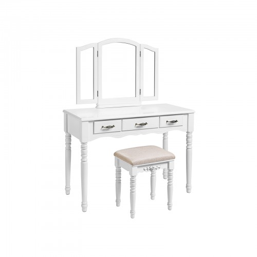 Vaulted Mirror Dressing Table Set