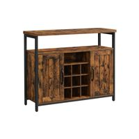 Storage Cabinet Rustic Brown and Black