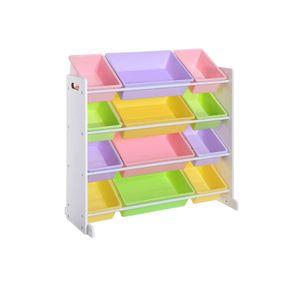 Colorful Toy Storage Unit