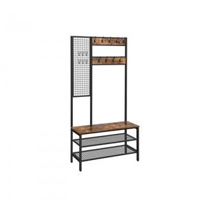 Coat Stand with Grid Wall