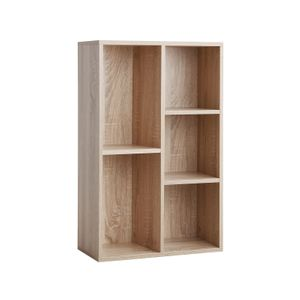 Wooden 5-Grid Bookcase