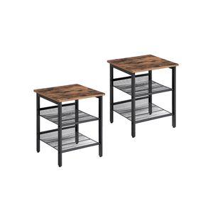 Mesh Shelves Side Table