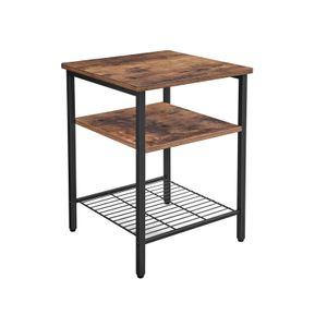 Nightstand with 3 Shelves