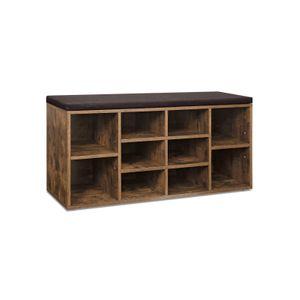 Adjustable Shelves Storage Bench