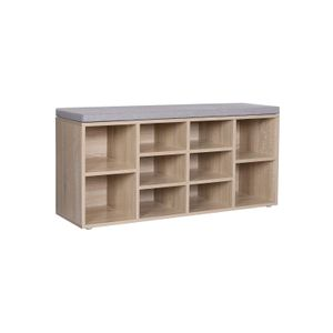 10 Compartments Shoe Bench