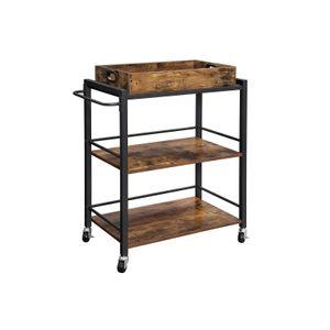 Universal Casters Kitchen Cart