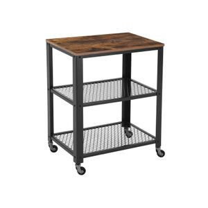 3 Tiers Serving Trolley