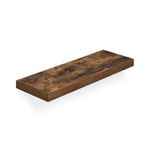 Rustic Brown Floating Shelf