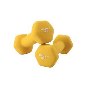 Yellow Dumbbell Set