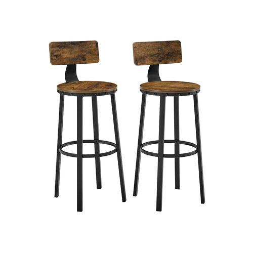 Set of 2 Tall Bar Stools