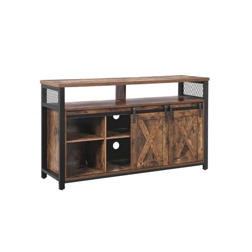 TV Stand Rustic Brown and Black
