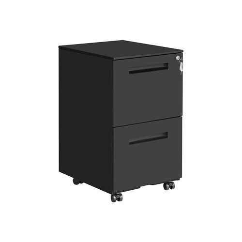 Matte Black File Cabinet