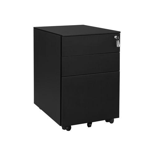 Black Steel File Cabinet
