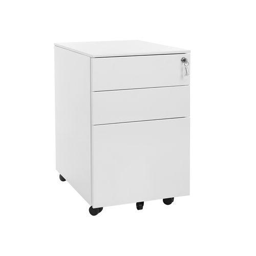 White Steel File Cabinet