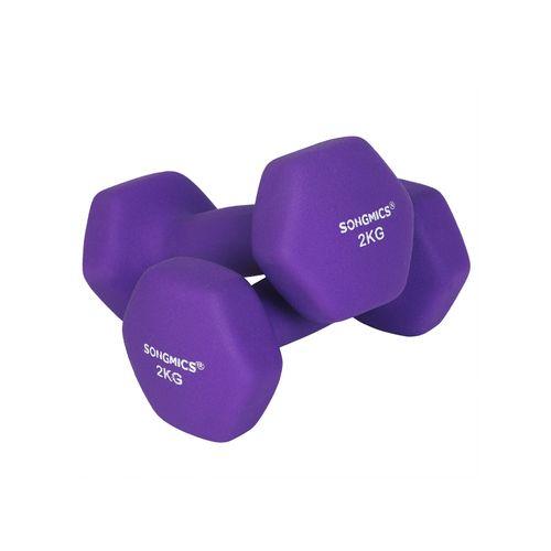 Purple Dumbbell Set