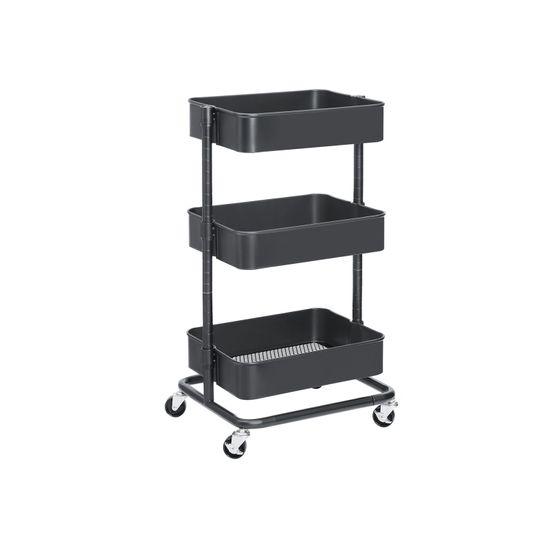Adjustable Shelves Rolling Cart