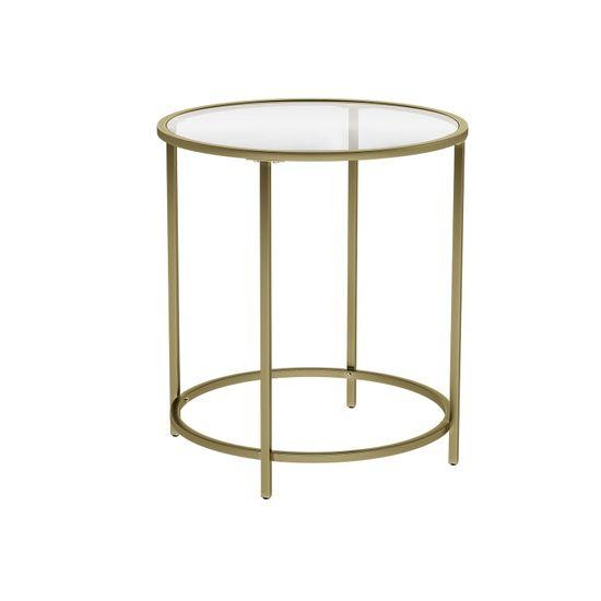 Golden Metal Side Table