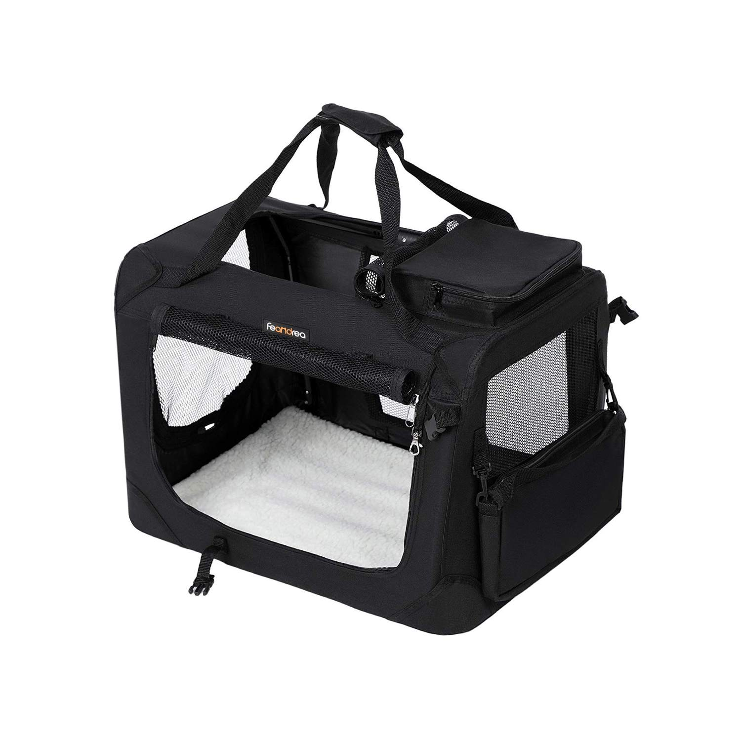FEANDREA Medium Black Pet Carrier